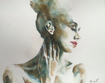 Portrait XXVIII GICLEE PRINT on fine art paper