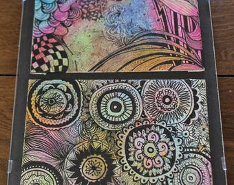 """Trippy Abstract Colorful Ink Paintings """"Abstract Thoughts""""."""