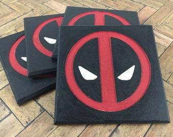 Deadpool Coasters - Set of 4