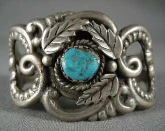 Museum Vintage Navajo Twisted Love Turquoise Silver Bracelet