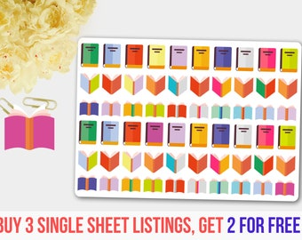 Books Stickers, Books Planner Stickers , Books Stickers for Planner, Library Planner Stickers