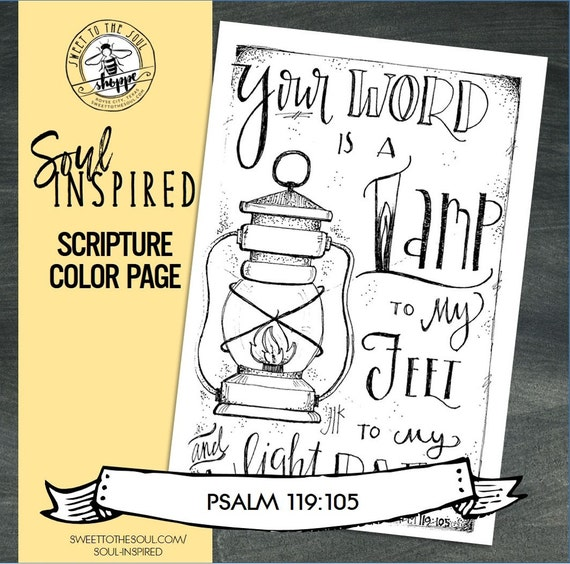 psalm 119 105 coloring pages - photo#33