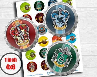 """Harry Potter Digital Collage Sheet 1"""" inch 25mm Bottlecap Printable Image Download for pendants magnets party cupcake toppers"""