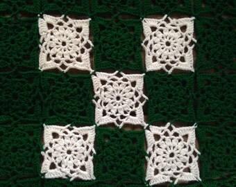 King size crocheted blanket