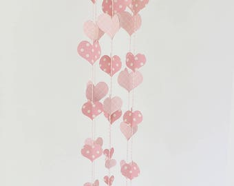 Pink and White 3D Heart Mobile