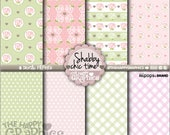 80%OFF - Shabby Chic, Digital Paper, COMMERCIAL USE, Shabby Chic Pattern, Printable Paper, Vintage Party, Vintage Paper, Paper Pack