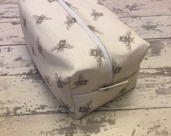 Handmade Spring Bee Toiletry Bag