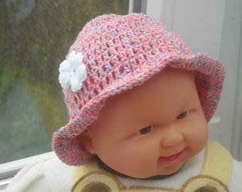 Baby Hat - Hat - crochet Hat - KU 36-40 cm - dolls Hat - Frühchenhut - headwear - summer Hat - Sun Hat - Sun protection