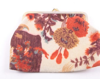 Vintage, Carpet Bag, Coin Purse, Old Couch Material, Cute  ~ The Pink Room ~ 160921C