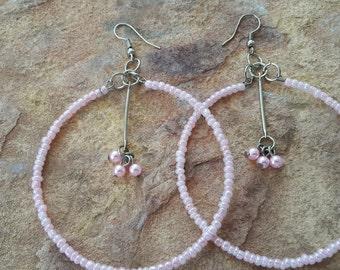 Big hoop earrings handmade earrings light earrings big earrings party earrings dance earrings simple earrings summer earrings hoop earrings