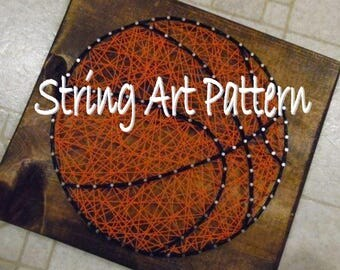 basketball string art pattern, basketball pattern string art, DIY Basketball string art pattern, basketball pattern, DIY String basketball