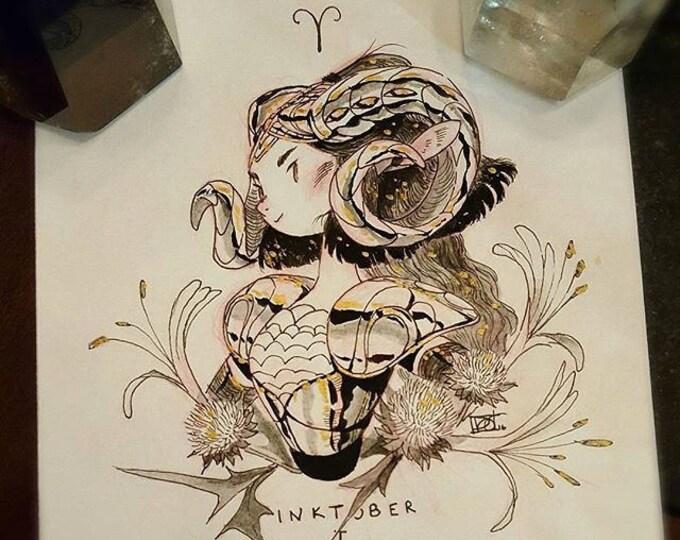 2016 Inktober [ZODIAC ORIGINAL] - I Aries