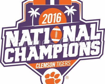 Clemson Tigers National Champions - Vector Design .Svg, .ai, .eps, .dxf, .Jpeg, .png Format for Cricut and Silhouette, Digital download