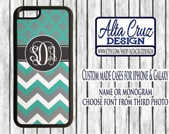 Personalized Monogrammed cell phone case, iPhone or Galaxy, name or monogram #132