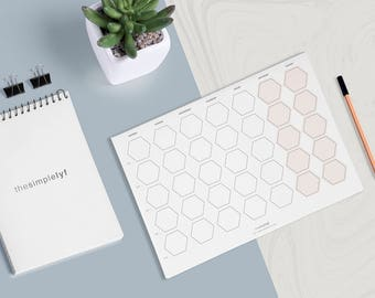 Blank Calendar Printable Monthly Weekly Planner printable woman gift. Business Calendar. Entrepreneur Calendar. Daily Planner Organizer