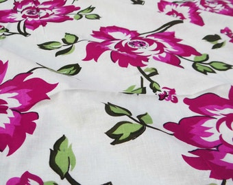 "Dressmaking Fabric Cotton Fabric For Sewing Designer Floral Printed Pure Cotton Fabric 41""Wide Sewing Crafting Material By 1 Yard ZBC5137"