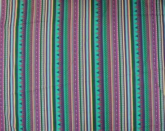 Dressmaking Fabric Cotton Fabric For Sewing Designer Multicolor 100%cotton sheer fabric stripe printed for woman drape by 1 yard ZBC6207