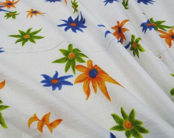 """Decorative  Dressmaking Fabric, Apparel Fabric Material 41"""" Wide Designer White Cotton Floral Printed, Sewing Dress Fabric By 1 Yard ZBC6700"""