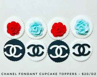 Chanel Cupcake Toppers