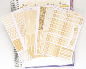 August '18 Vertical Planner Stickers Kit for use with Erin Condren LifePlanner™ (7 Sheets)