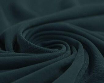 Dark Petrol - Modal Jersey Knit Fabric