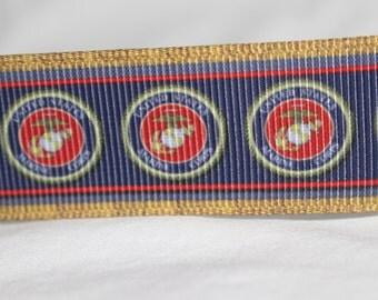 "United States Marine Logo Dog Collar - Side Release Buckle (1"" Width)"