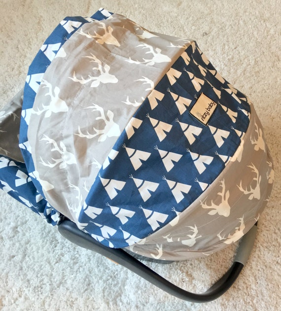 deer infant car seat covers tee pees baby boy car seat cover. Black Bedroom Furniture Sets. Home Design Ideas