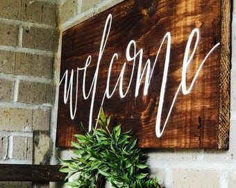 Welcome Sign | Front Porch | Wedding | Entry way | Wooden Sign