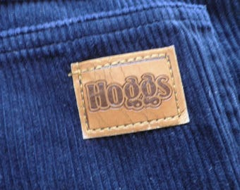 Vintage Hoggs Mens Dark Blue Corduroy Trousers  Size M  Classic Countrywear