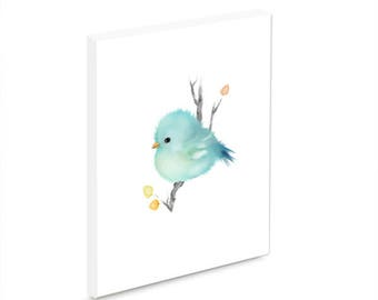 Baby blue bird wall plaque ready to hang wildlife home decor bird home decor gift for bird lovers mother's day gift
