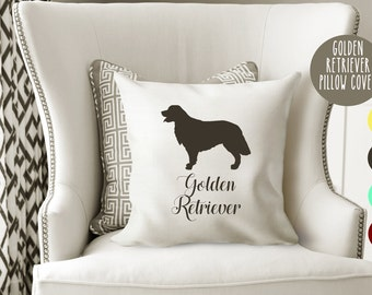 Personalized Golden Retriever Pillow Cover