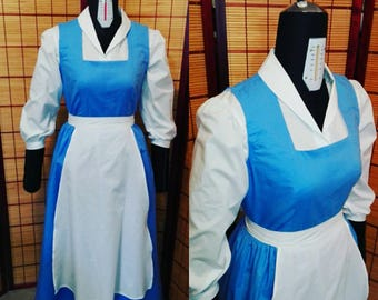 "Belle beauty and the beast ""blue dress cosplay costume"