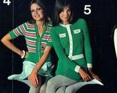 Vintage 1960s Patons Ladies Knitting  Crochet Booklet Groovy Boho Hippy Chick Mod Beatnick Dress Poncho Granny Rosex