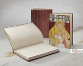 Shera Hardback Journal 5x7-128 Pages, Comic Art, Vintage, Superhero, Children, Men, Women-Red White Yellow
