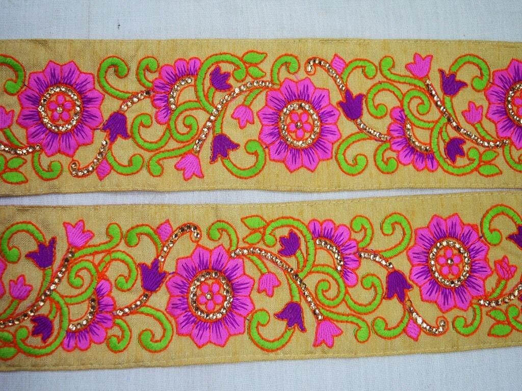 Decorative Indian Laces Trims Sari Border Trim By The Yard ...