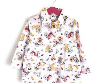 Printed schoolgirls 'heart cashmere' apron
