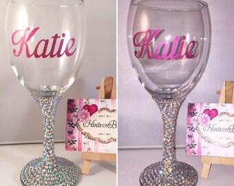 Personalised Crystal Wine Glass