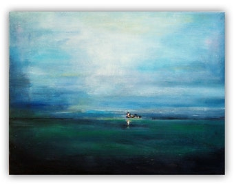 Title: Niederelbe with occupational navigation - the Elbe near Brunsbuettel