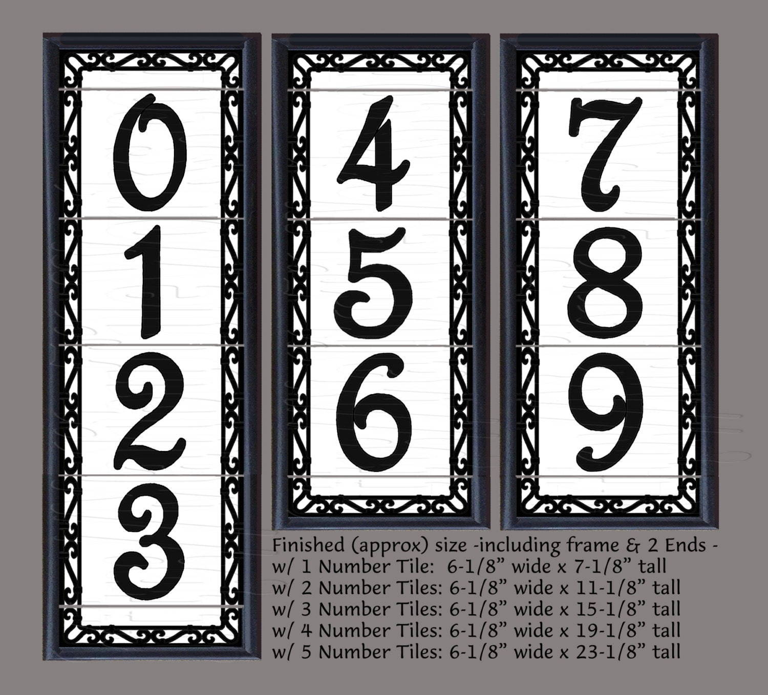 Framed decorative tile house numbers framed decorative zoom dailygadgetfo Choice Image