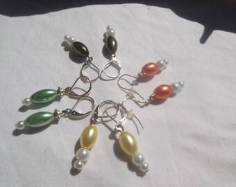 Lot of 4 pair of earrings