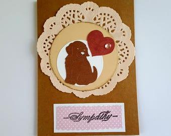Pet Sympathy Card Handmade Pet Sympathy Cards Dog Loss Cards Dog Sympathy Cards
