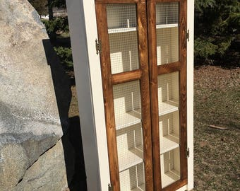 Tall Farmhouse Jelly Cabinet/Pantry