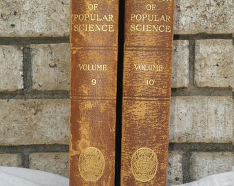 Volumes 9 and 10 1924 book of popular science by the grolier society
