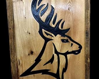 Reclaimed Barnwood Wall Art Deer
