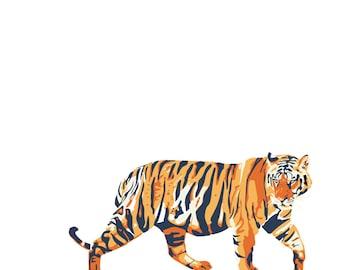 Tiger Square Print