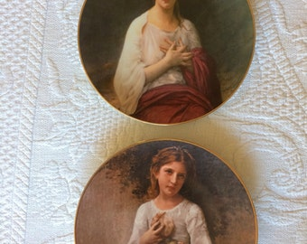 The Beauty of Bouguereau Plates Colette and Madelaine