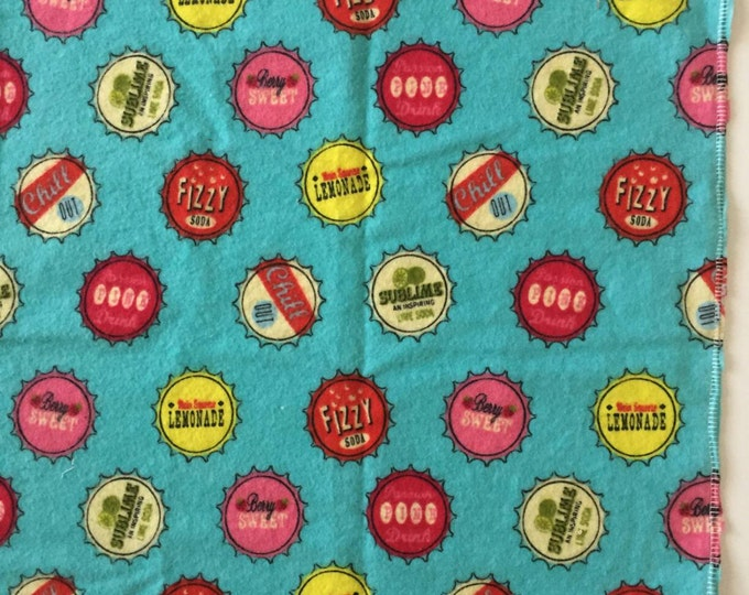 Retro soda cap receiving blanket