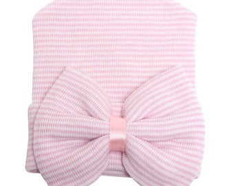 SALE!!!! Newborn girl hospital hat PinkNewborn Hat Newborn Coming home Hat