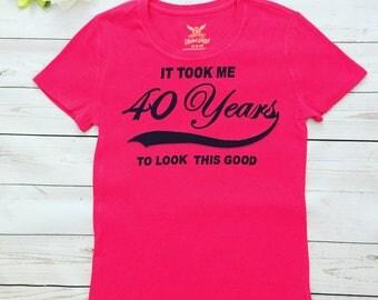 40 years Birthday T-shirt,Special order 40th Birthday , anniversary 40 years shirt