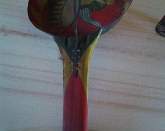 German-made Vintage Americana Tin Noisemaker